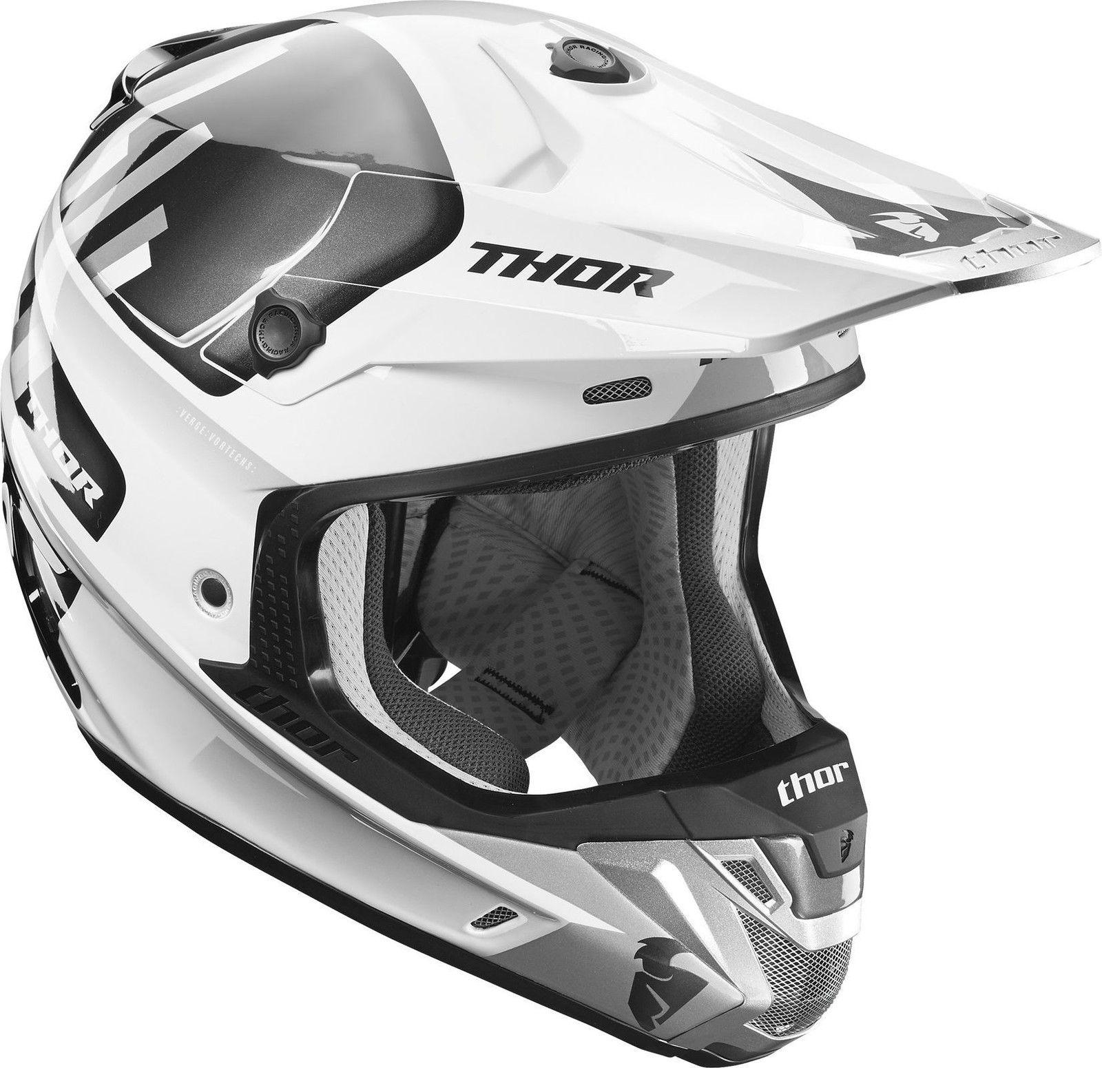 ce2baeb1 2017 Thor MX Verge Vortechs White/Grey Motocross Helmet | Grips Bikes