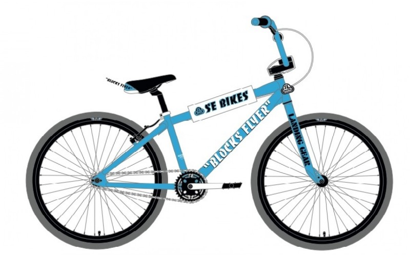 se bikes blocks flyer blue